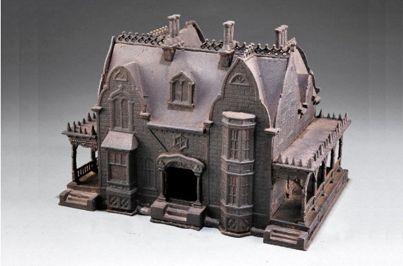 1868 Cast Iron Bird House