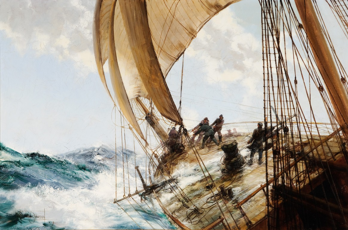 A Roll to Loo'Ard, Montague Dawson
