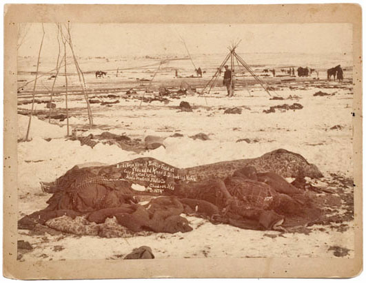 George Trager photograph of the Wounded Knee battlefield